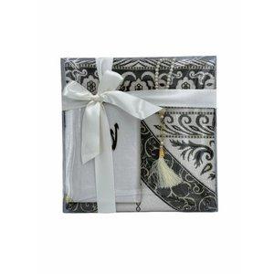 Prayer plumage pattern with Velvet Yasin and Tasbeeh White