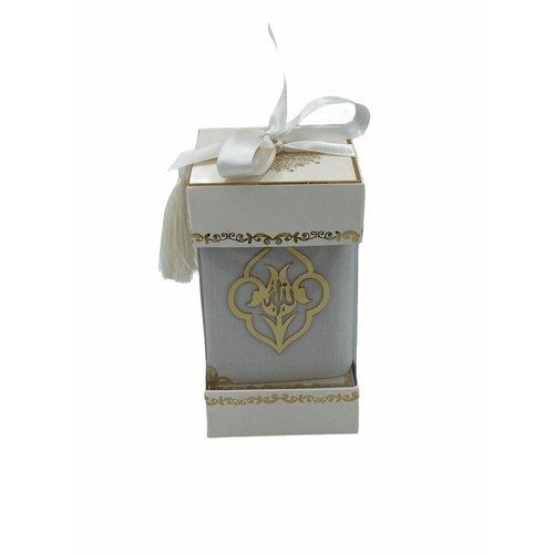 Fluwelen Koran met Sjaal Wit