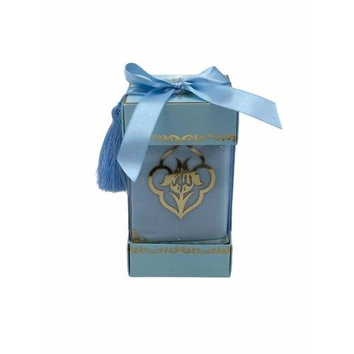 Fluwelen Koran met Sjaal Babyblauw