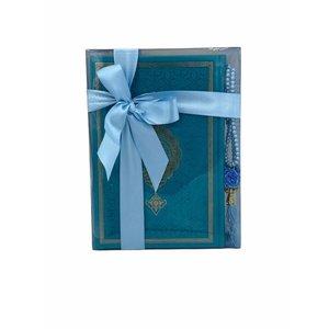 Thermo leren Koran met Tasbeeh Turquoise