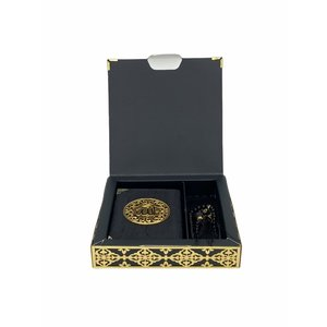 Luxury Quran Set with Tesbih and Cardboard Cover Black