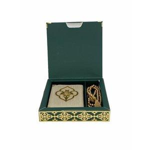 Luxe Koran Set met Tesbih en Kartonnen Kaft Groen
