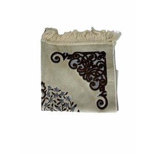 Velvet prayer rug with glitter - Brown