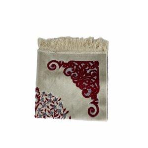 Velvet prayer rug with sparkles - red