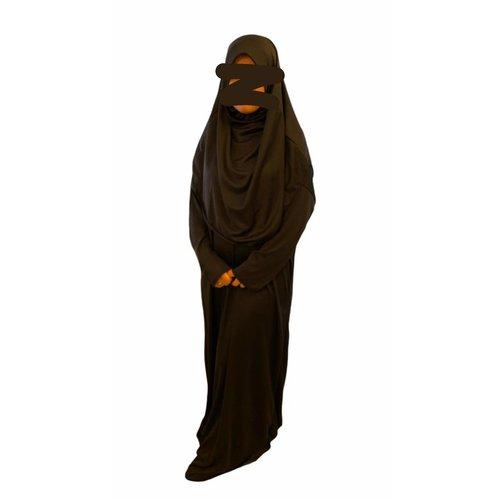 Bafra Gebedskleding 1 delig met Hoofddoek Zwart