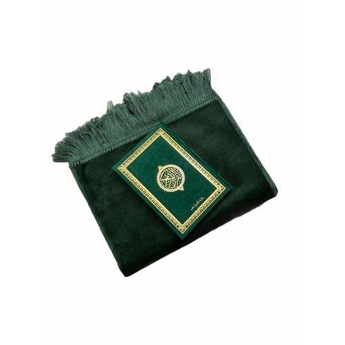 Fluwelen Gebedskleed Aardbei Matgroen met Suede Koran