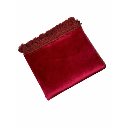 Fluwelen Gebedskleed Donker Rood