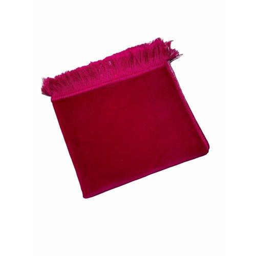 Fluwelen Gebedskleed Donker Roze