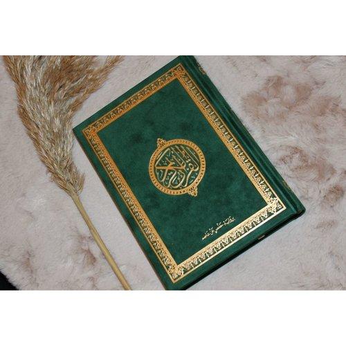 Fluwelen Koran Groot - Groen