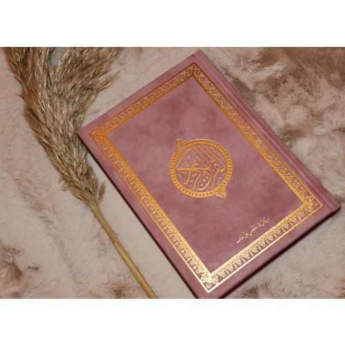 Fluwelen Koran Groot- Oud Roze