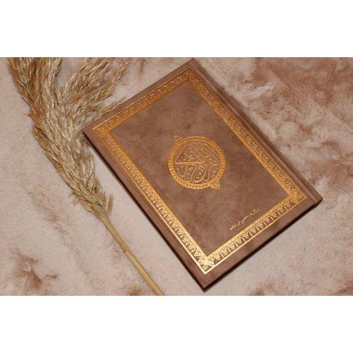Fluwelen Koran Groot - Bruin