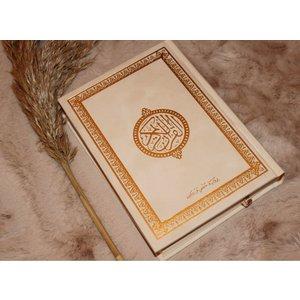 Large velvet Koran - Creme