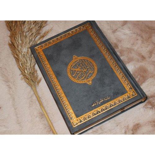 Fluwelen Koran Groot - Grijs