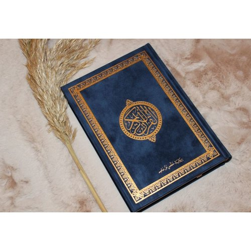 Fluwelen Koran - Donker Blauw