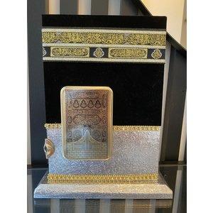 Ayfa Yayinlari Zilveren Kabe koran houder met Koran