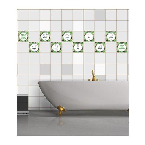 Wudu Badkamer Stickers Groen
