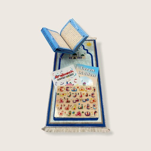 Cadeauset Gebed en Kuran Blauw