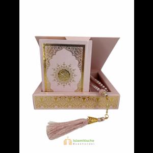 Luxe Koran Set met Tesbih en Kartonnen Kaft Roze