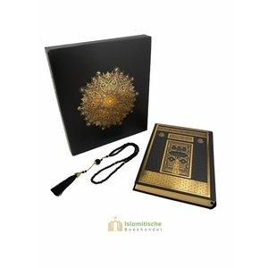 Meliksah Koran set met Tesbih in kartonnen doos Zwart