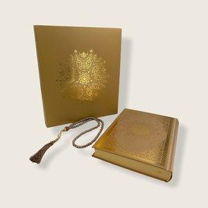 Meliksah Koran set met Tesbih in kartonnen doos Goud