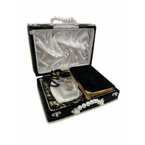 Herenset met Koran Gebedskleed Hoofddeksel Tasbih en elektronische Tasbih in doos
