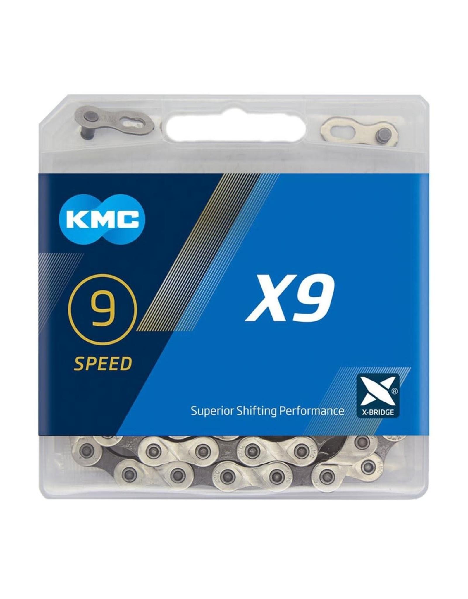 KMC Chain 9 Speed X9 Silver/Grey