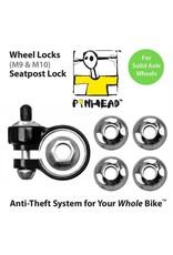 Pinhead Wheel Lock Skewer 3-Pack Solid Axle