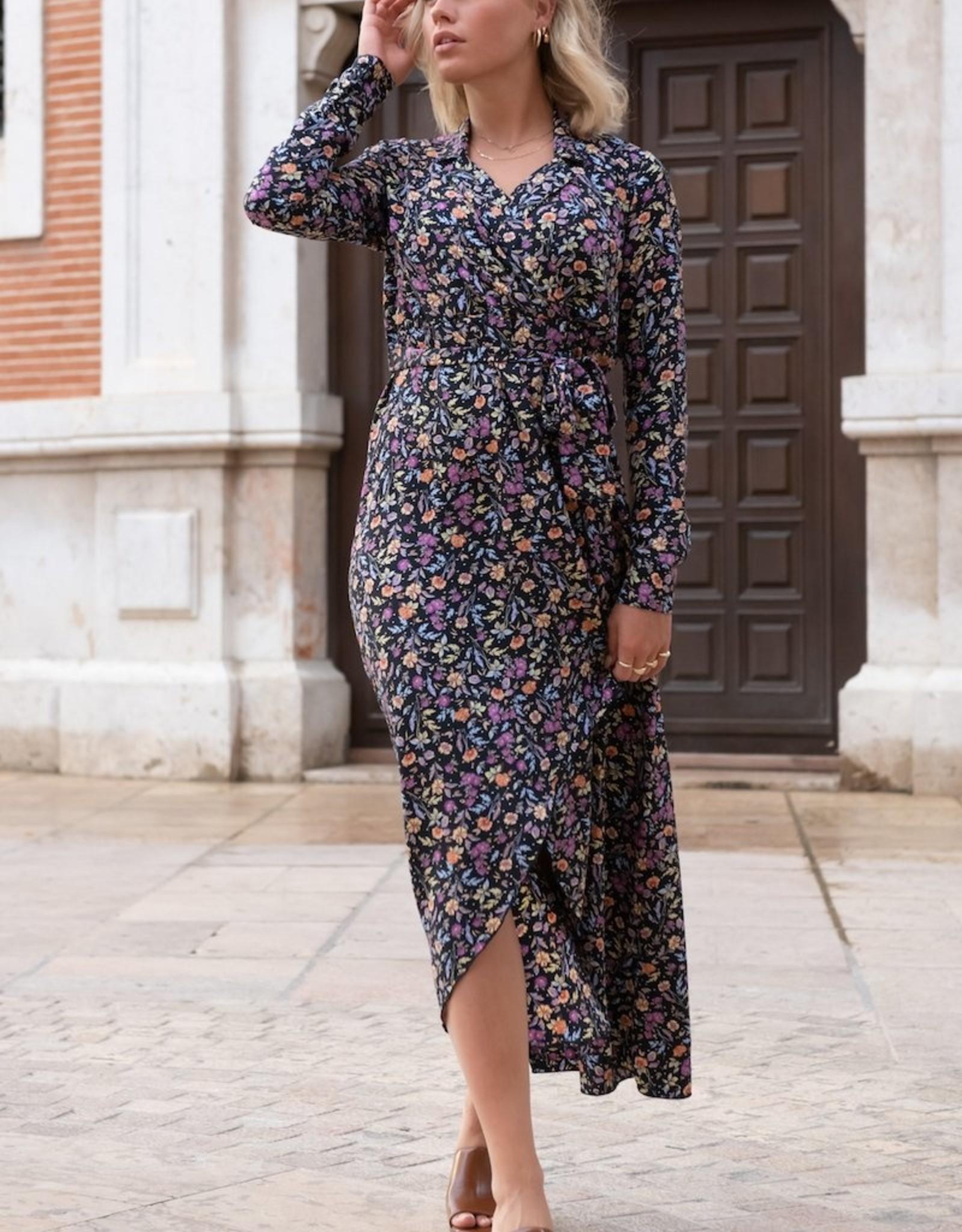 Colourful Rebel Vivian flower blazer dress