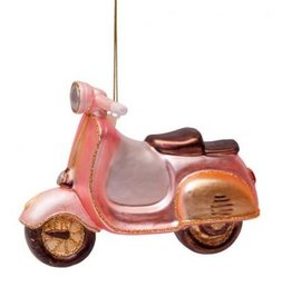 Vondels Ornament glass soft pink scooter