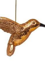 Vondels Ornament glass cognac hummingbird