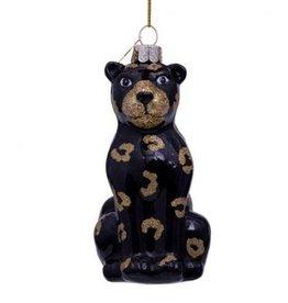 Vondels Ornament glass black panther glitter