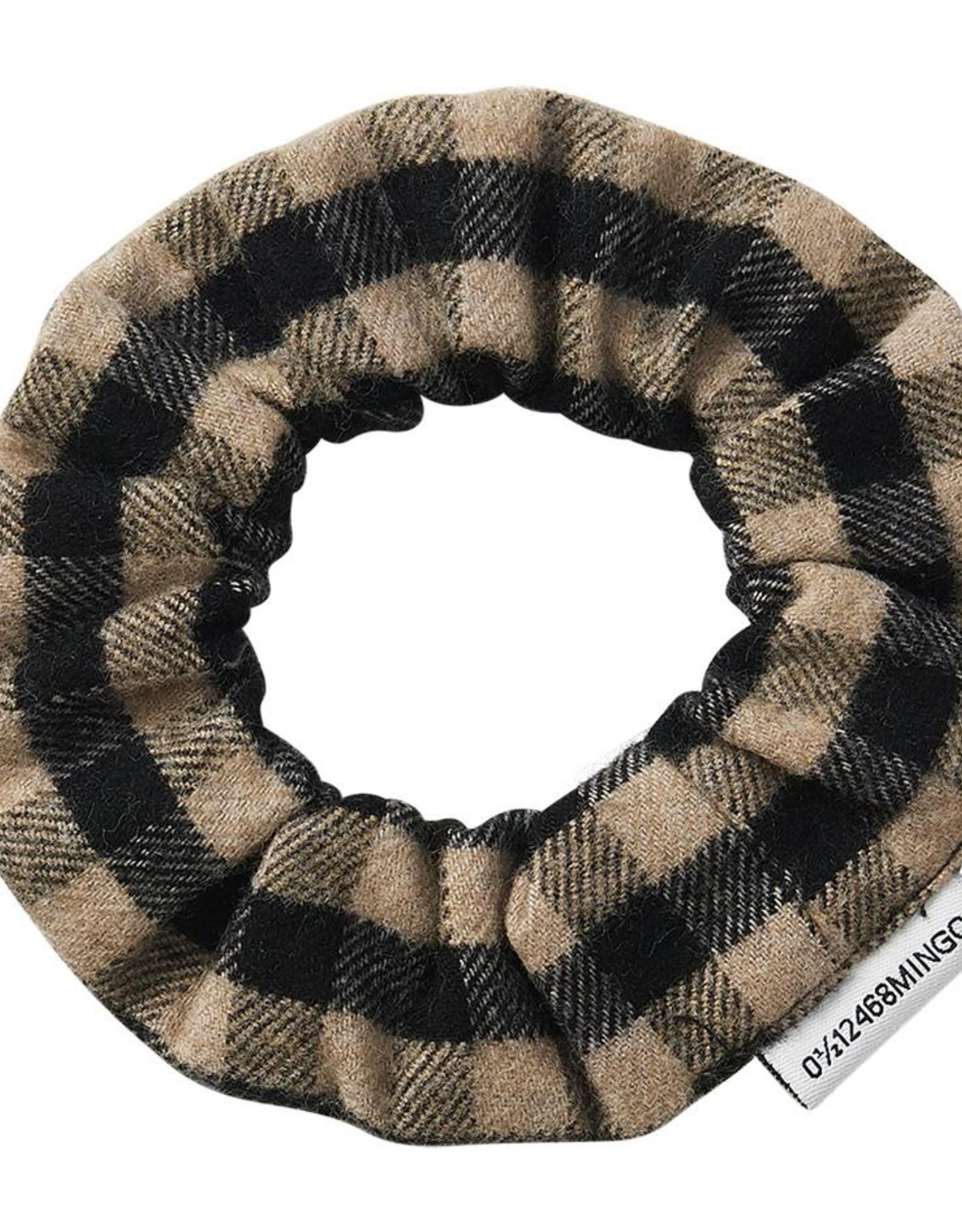 Mingo Flannel check scrunchie