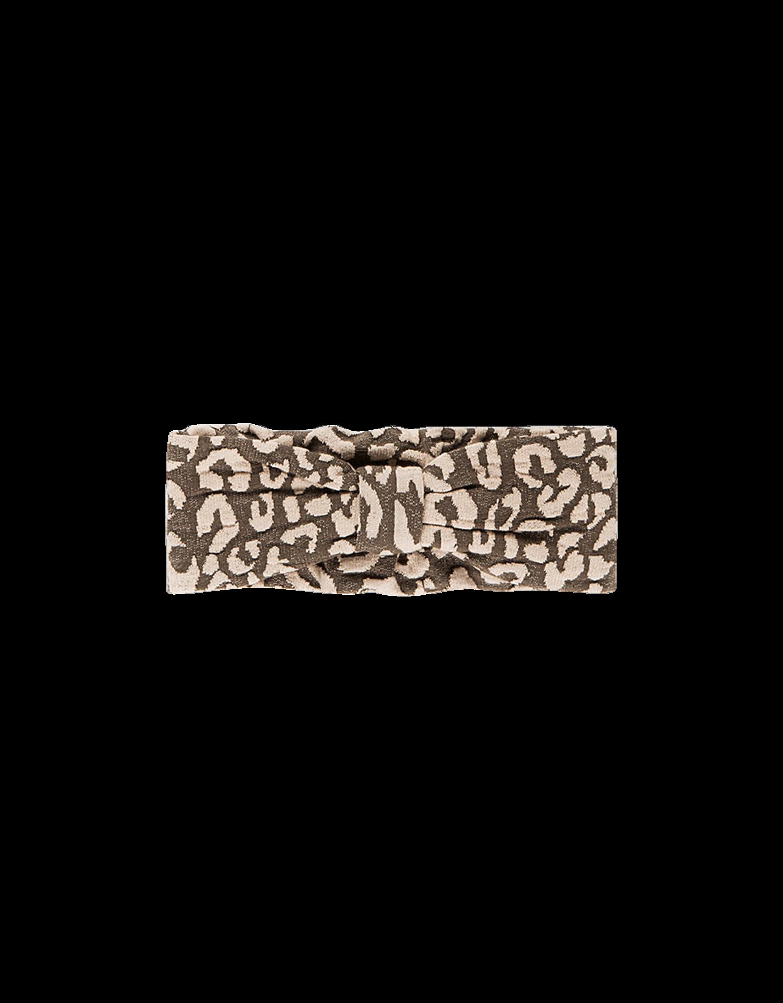 House of Jamie Bow tie headband rosewood leopard