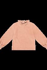 House of Jamie Frill jumper terra blush velvet