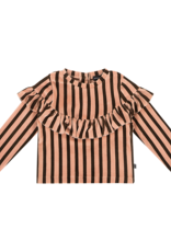 House of Jamie Volant sweater blush & choco stripes
