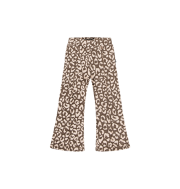 House of Jamie Flared rosewoord leopard
