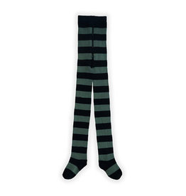 Sproet & Sprout Tights painted stripe green