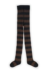 Sproet & Sprout Tights painted stripe chocolade