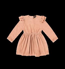 House of Jamie Girls dress terra blush velvet