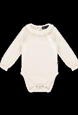 House of Jamie Frill collar bodysuit cream velvet