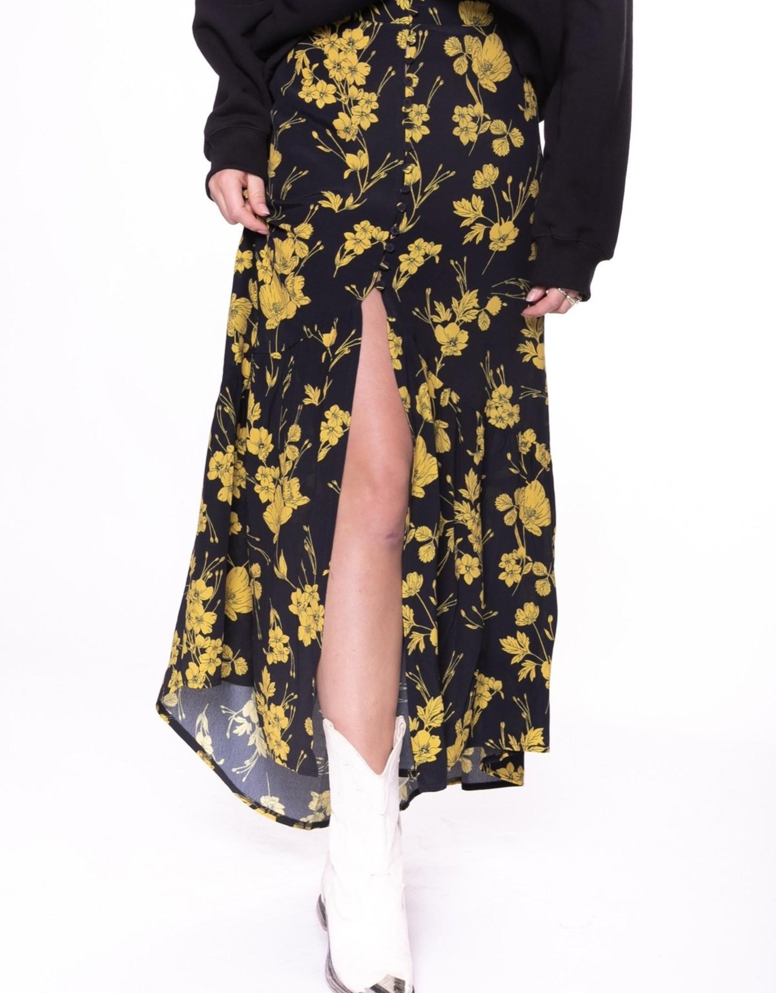Colourful Rebel Rive flower highlow skirt