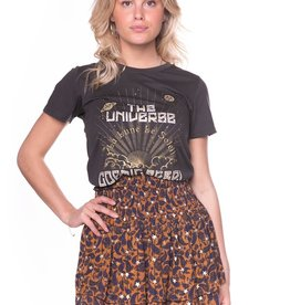 Colourful Rebel Daphne paisley mini layer skirt