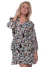 Colourful Rebel Saar flower mini belt dress