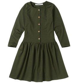 Mingo Button dress forest night