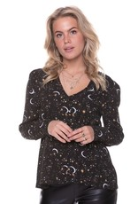 Colourful Rebel Elin Star V-neck Button blouse