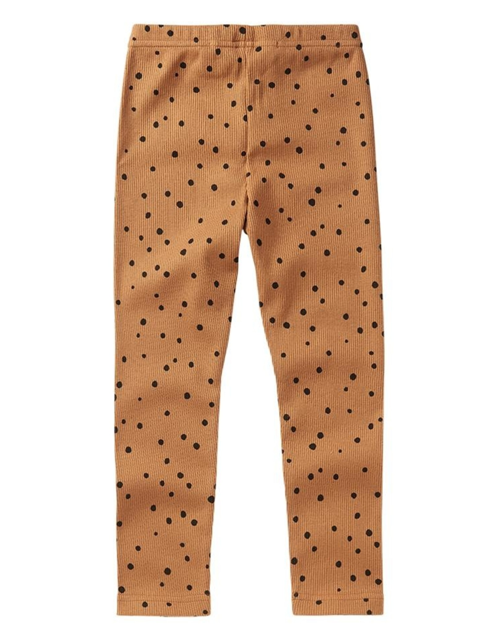 Mingo Rib legging dots caramel