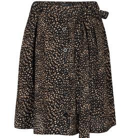 Ydence Sophia black print skirt