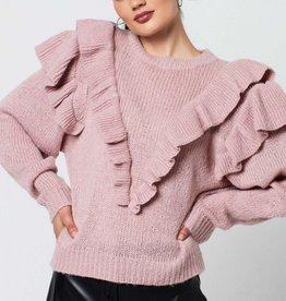 Ruth & Circle Nina Frill Knit Dusty Pink