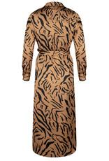 Ydence Philippa camel tiger print dress