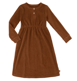 CarlijnQ CarlijnQ Basics - corduroy 2 button dress